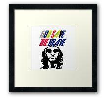 God Save The Brave Framed Print