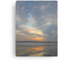 Foggy Morning Sky Reflection | Manorville, New York Canvas Print