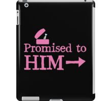 Promised to him with silver ring  iPad Case/Skin