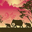 Indian elephants by Lara Allport