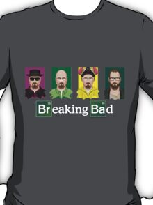 The four faces of Walter White - Breaking Bad T-Shirt
