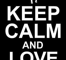 keep calm and love pugs by teeshoppy