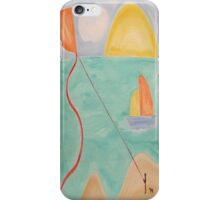 BOY AND DOG FLYING A KITE iPhone Case/Skin
