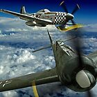 P51 Battles  FW190 by Colin J Williams Photography