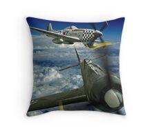P51 Battles  FW190 Throw Pillow