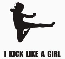 Kick Like A Girl Kids Clothes