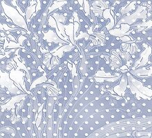 White Flowers and Dots on Light  Blue by nanengen2
