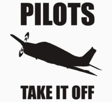 Pilots Take Off Kids Clothes