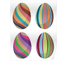 Colorful Easter Eggs 2 Poster