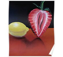 Strawberry and lemon Poster