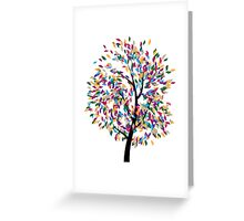 Colorful Tree 3 Greeting Card