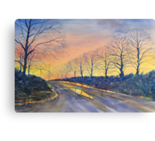 """Sunset on Sledmere Road"" Canvas Print"