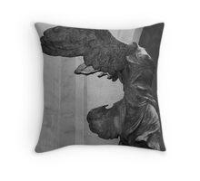 Nike of Samothrace Throw Pillow