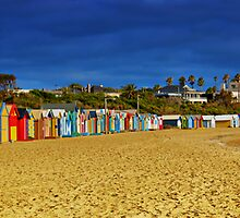 Brighton Beach Bathing Boxes by Darren Greenwell