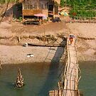 A Monk Crossing the Bamboo Bridge by MeBoRe