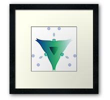 Water Blooms - Triangle Framed Print