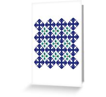 Crosses and Flowers Greeting Card