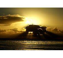 The golden light shines brightly Photographic Print