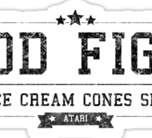 Food Fight - Retro Black Dirty Sticker