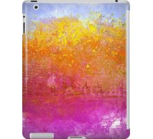 Landscape in Gold, Pinks and Blue iPad Case/Skin