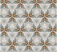Blue Yellow floral chic pattern by Heidivaught