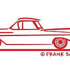 1959 1960 Chevrolet El Camino Red on Blk by Frank Schuster