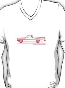 1959 1960 Chevrolet El Camino Red on Blk T-Shirt