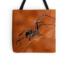 Electric Orange Slide    ( Black Widow Series) Tote Bag