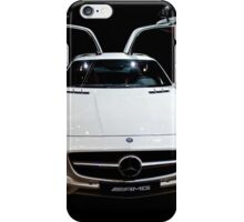Mercedes AMG white colour on black background iPhone Case/Skin