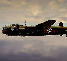 Avro Lancaster / Lancaster  Bomber Digital Painting - World War 2 Art - WWII - WW2 Art Military by verypeculiar
