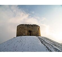 History caught between sun and snow Photographic Print