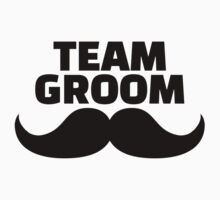Team groom mustache Kids Clothes
