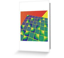 Retro style perspective Greeting Card