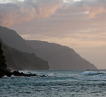 Napali Coast Sunset by Robert Yone