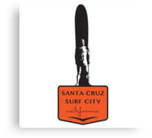 Santa Cruz Surfer Statue Canvas Print