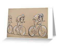 Cycle race, original art work Greeting Card