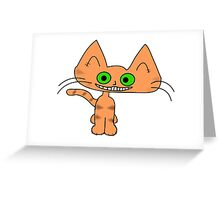 Tiger Kitten with a Big Smile Greeting Card