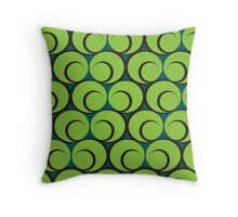 Olive Swirl Throw Pillow
