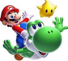 Mario and Yoshi by NathanG