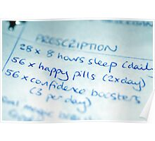 Happy Pills Prescription Poster