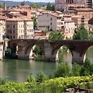 Old bridge at Albi, France by chord0
