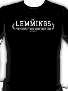 Lemmings - Retro White Clean T-Shirt