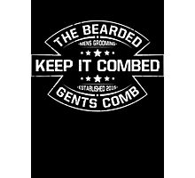 The Bearded Gents Logo Photographic Print