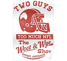 Two Guys Too Much NFL Red Edition Poster