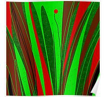 Organic modern, red and green Poster