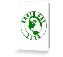 Earth Day 2015 Green Design Greeting Card