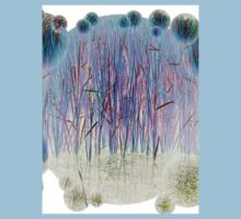 Light Blue Reeds-T by Robert Burns