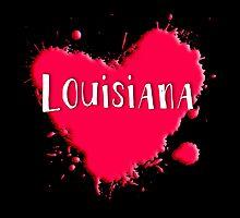 Louisiana Splash Heart Louisiana by Greenbaby