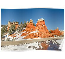 Entrance to Red Canyon on Highway 12 in Utah Poster