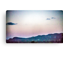 Static Sunset Canvas Print